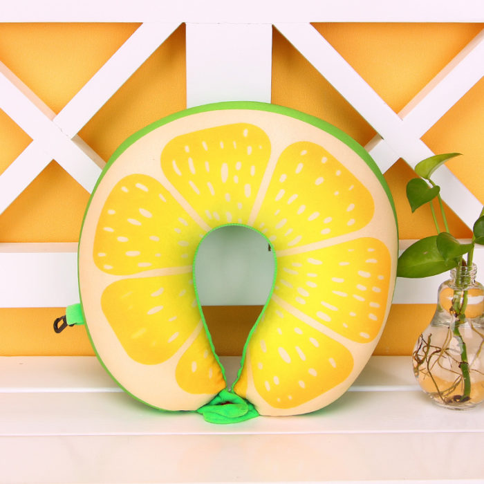 Neck Rest Pillow With Fruit Pattern