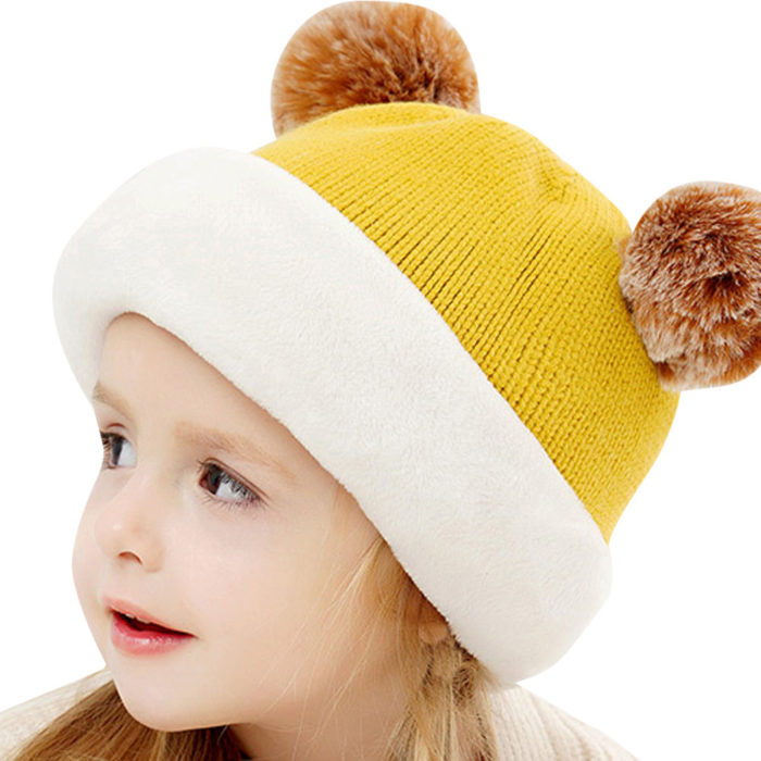 Kids Winter Hats Knitted Bonnet