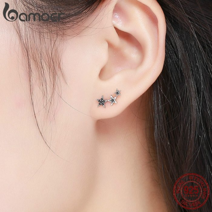 Star Earrings Silver Women Jewelry