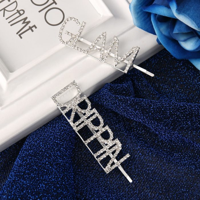 Word Hair Clips Fashionable Accessories