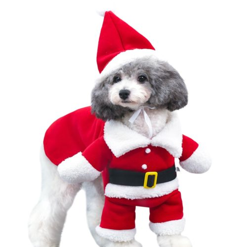 Dog Christmas Costume with Hat
