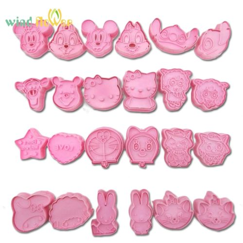 Mini Cookie Cutters Cartoon Mold 2pcs/set