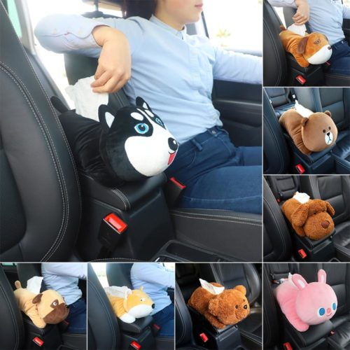 Car Tissue Holder Cute Plushy Design