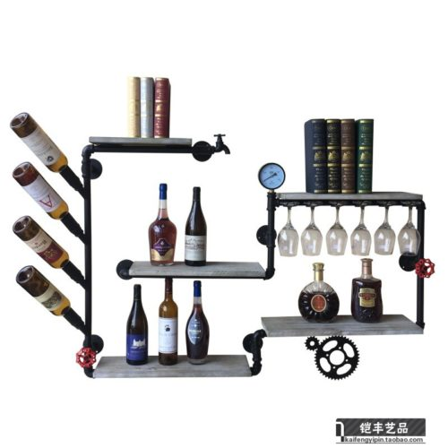 Wall Wine Rack Retro Design