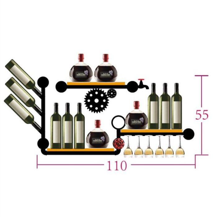 Wall Wine Rack Retro Design