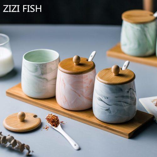 Spice Jar Set Ceramic Container