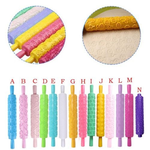 Patterned Rolling Pin Dough Decor
