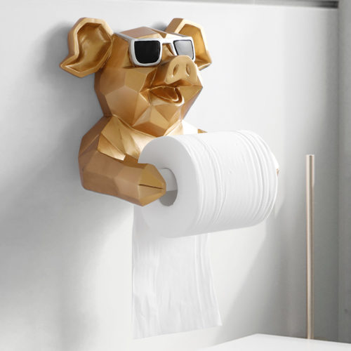 Toilet Paper Roll Holder Figurine