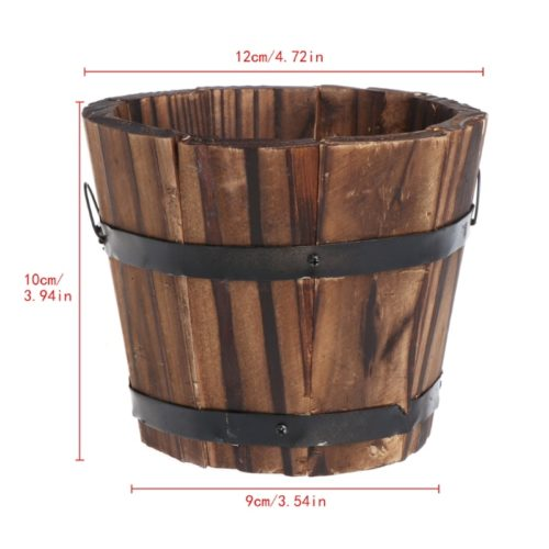 Wooden Flower Pot Garden Accessory