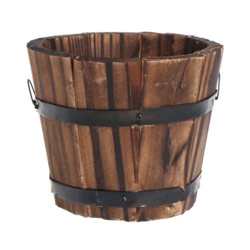 Wooden Flower Pot Garden Accessory
