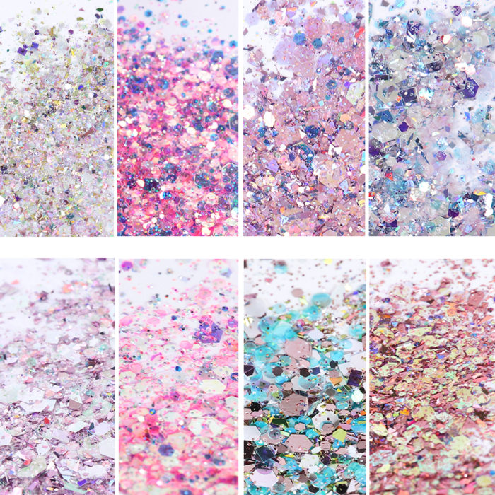 Glitter Powder Nail Decoration 8box/set
