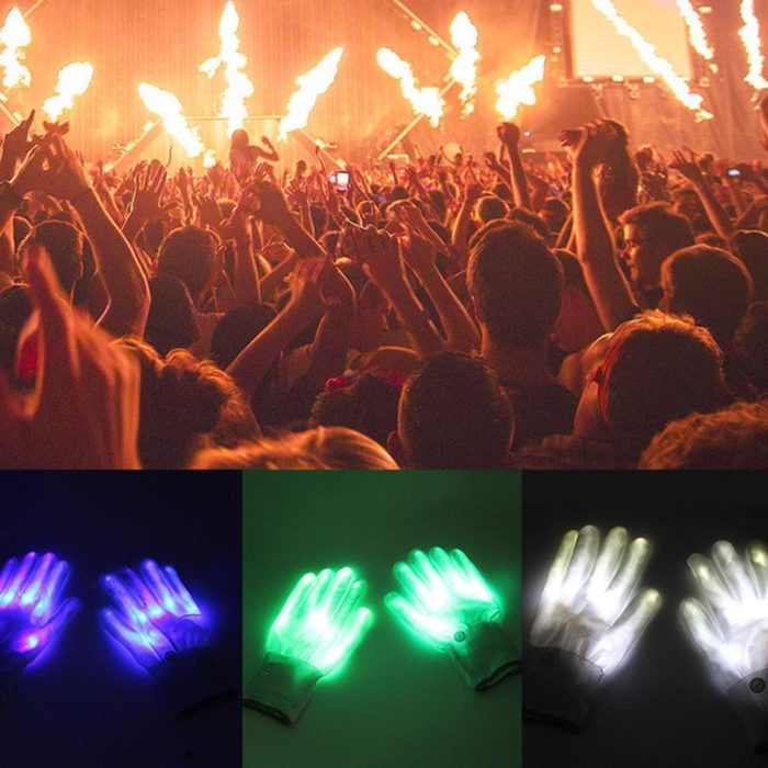LED Gloves 1 Pair Halloween Costume