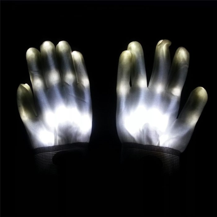 LED Gloves 1 Pair Halloween Costume