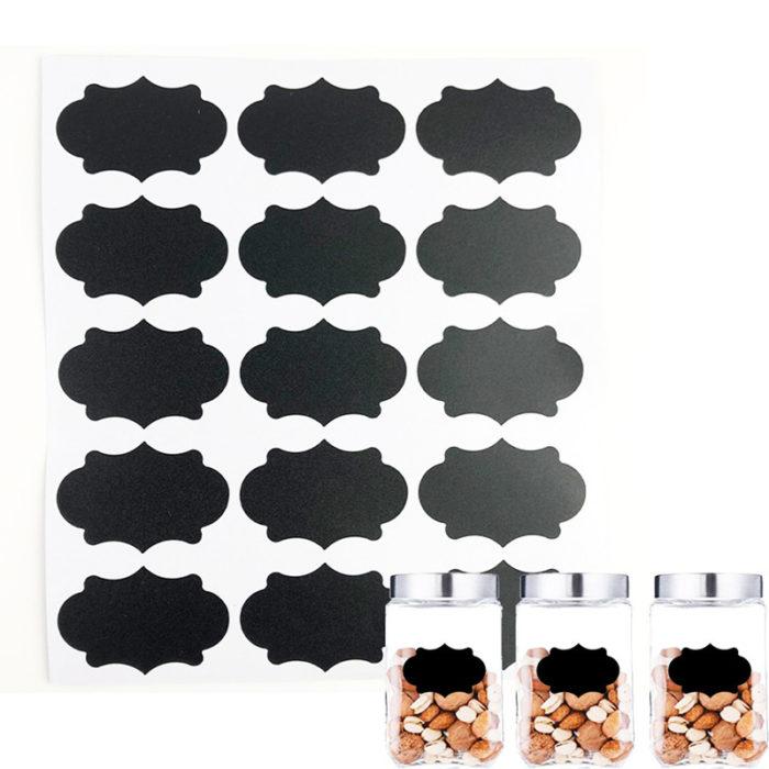 Chalkboard Stickers Jar Label Organizer