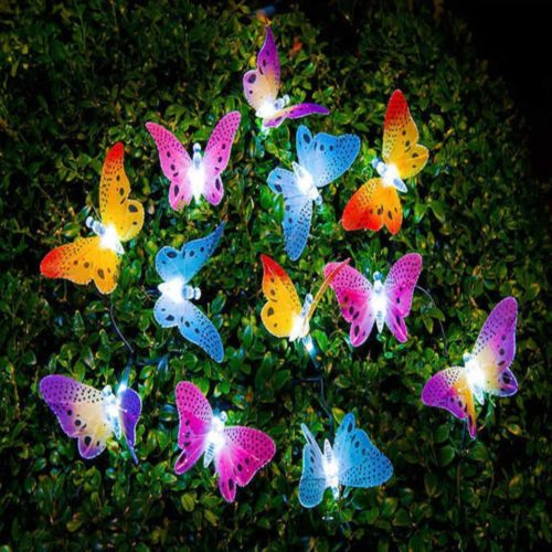 Butterfly Solar Lights 12 LED Bulbs