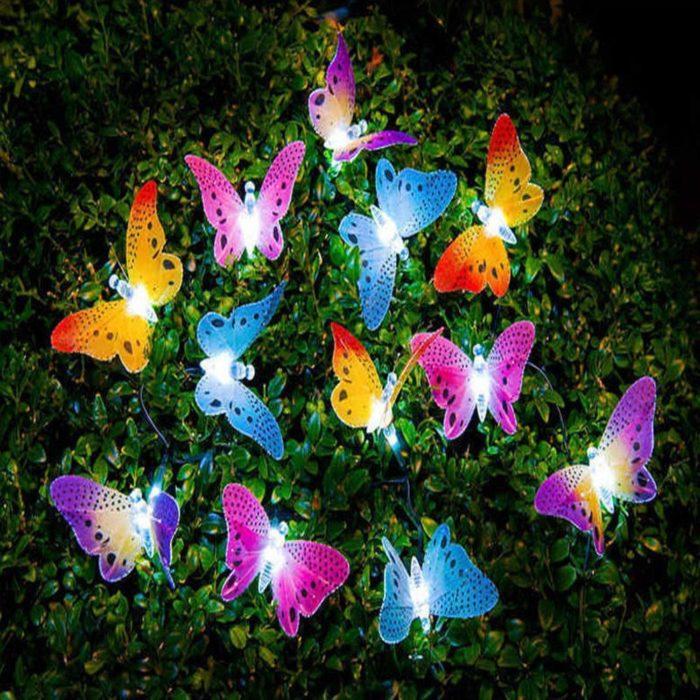 Butterfly Solar Lights 12 LED Bulbs