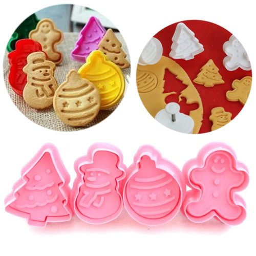 Christmas Cookie Cutter Baking 4Pcs Set