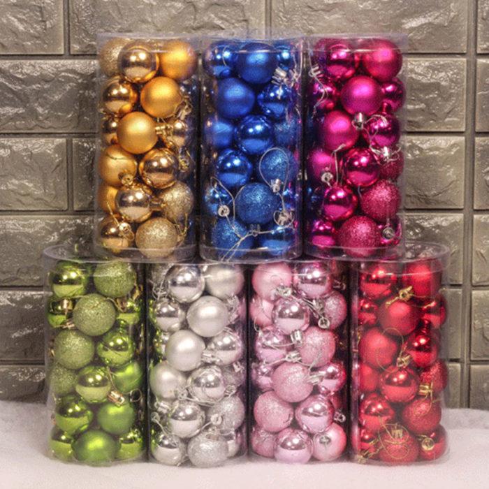 Christmas Balls Hanging Decor 24pcs/set