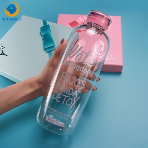 Glass Drinking Bottle Portable Container
