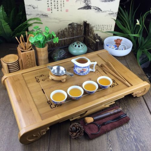 Tea Tray Bamboo Teaware Set
