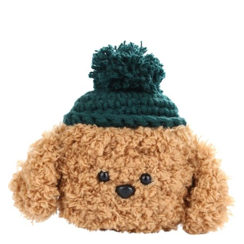 Cute Airpod Case Cover Knitted Dog Plush
