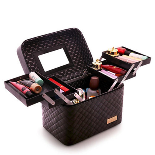 Makeup Travel Case Multilayer Organizer