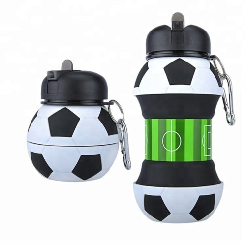 Collapsible Water Bottle Football Design