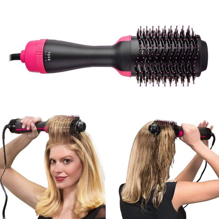 Hot Air Brush Hair Dryer Comb