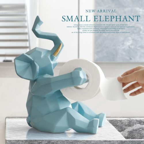 Toilet Tissue Holder Elephant Deer Design
