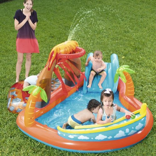 Paddling Pool with Slide Inflatable Toy