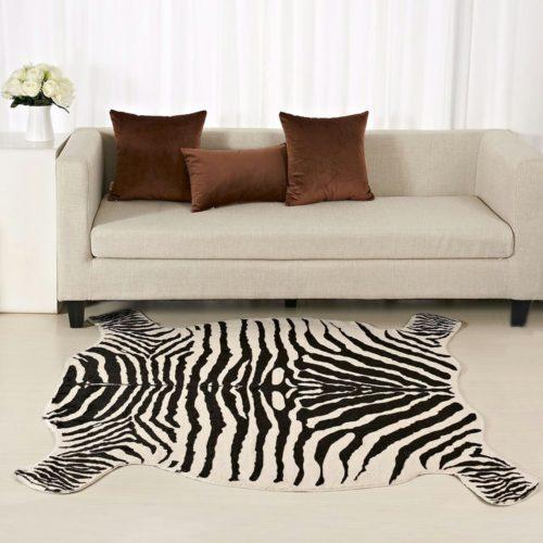 Zebra Print Rug Non-Slip Carpet