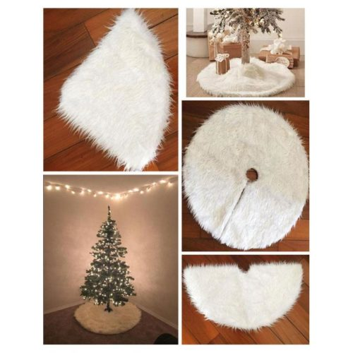 Fur Tree Skirt Christmas Tree Carpet