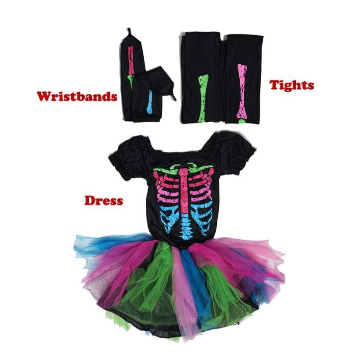 Kids Skeleton Costume Fancy Dress