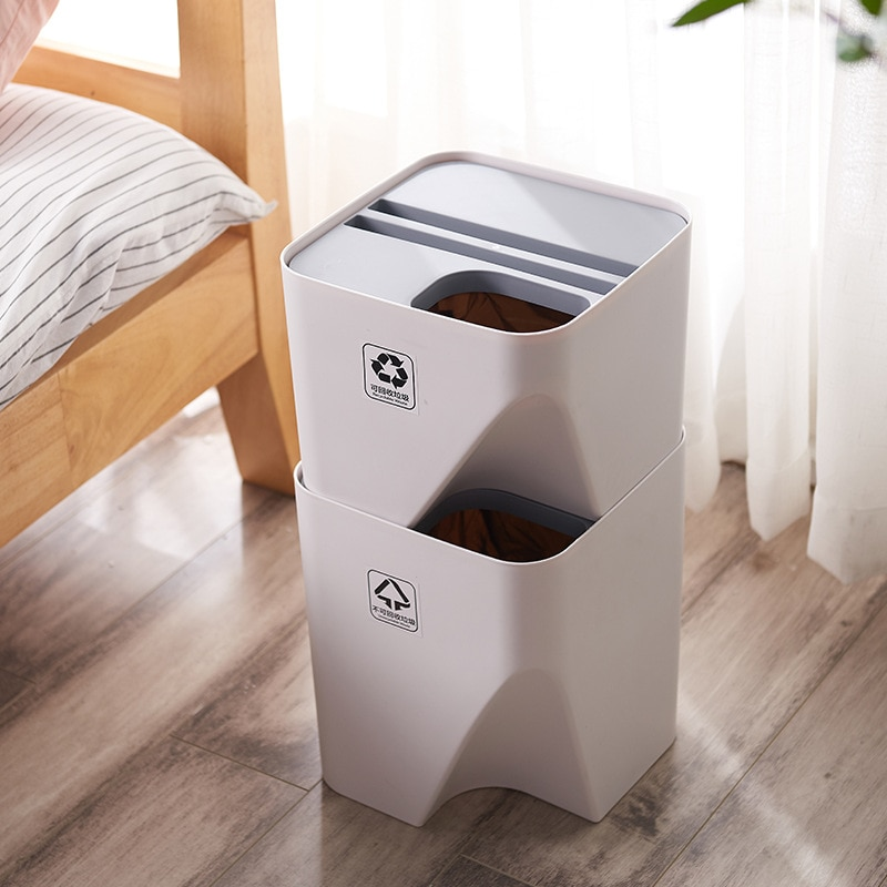 Kitchen Garbage Can Stackable