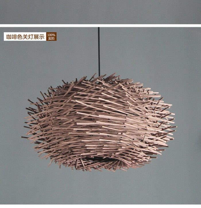 Rattan Pendant Light Modern Bird's Nest Design