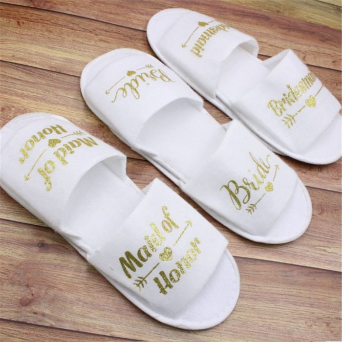 Bridesmaid Slippers Wedding Preparation Accessory