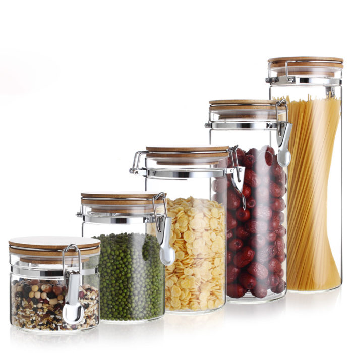 Glasslock Containers Food Canisters with Lid