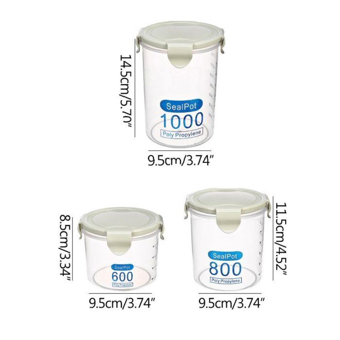 Airtight Food Containers Portable Canister