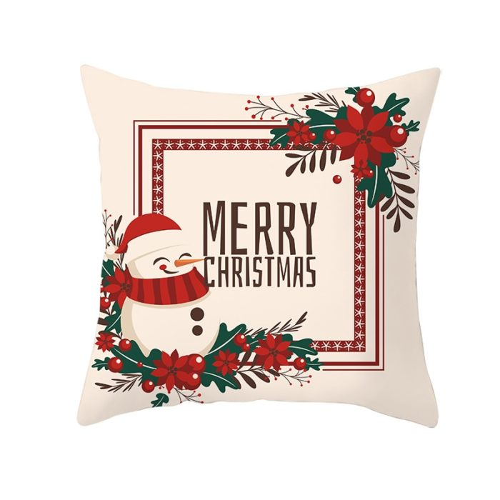 Christmas Pillow Covers Printed Cushion Cases