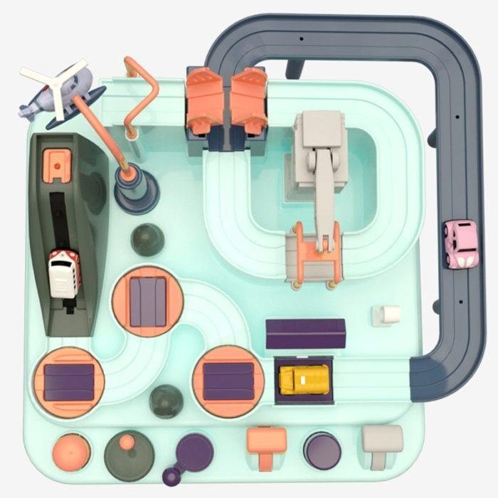 Toy Car Set Educational Railcar Set