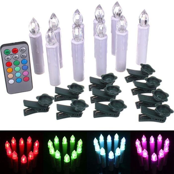 Remote Control Candles 10PC Set
