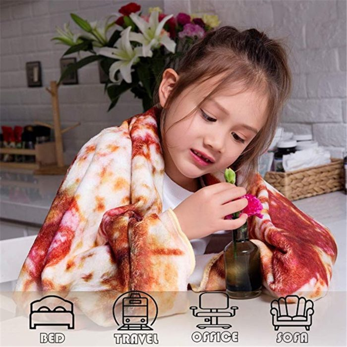 Pizza Blanket Soft Flannel Fabric