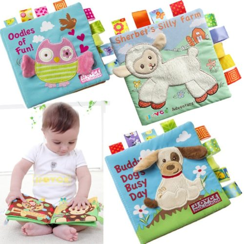 Cloth Books for Babies with Rattle
