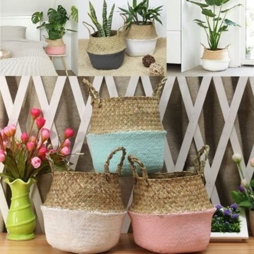 Rattan Storage Basket Home Decor