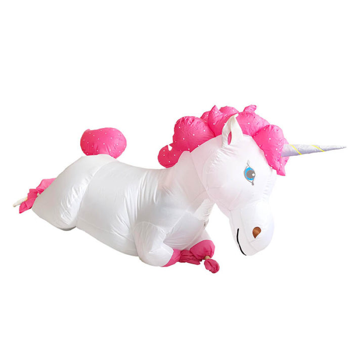 Inflatable Unicorn Costume with Air Pump