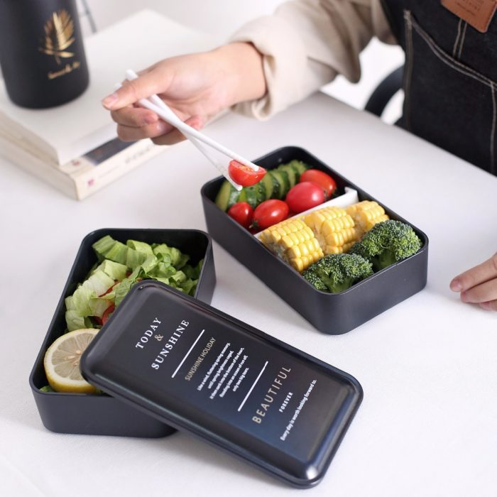 Microwavable Lunch Box 2-Layer Container