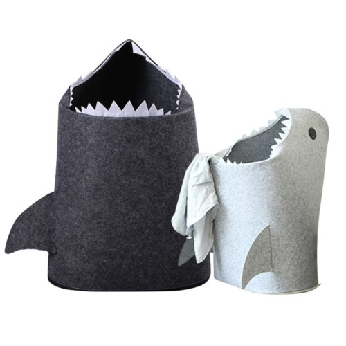 Kids Laundry Basket Shark Clothes Organizer