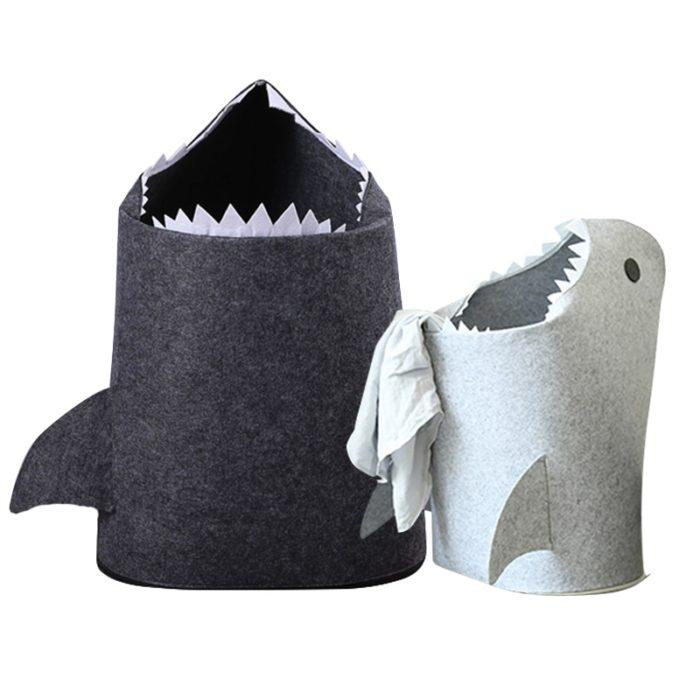 Kids Laundry Basket Shark Clothes Organizer