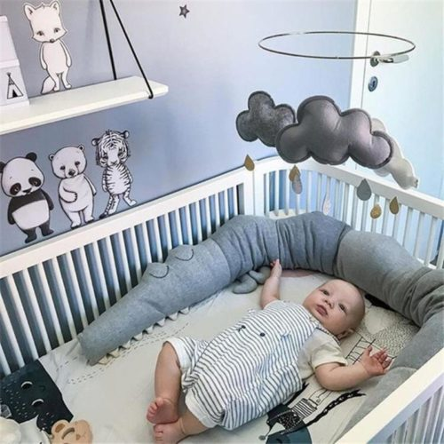 Crib Padding Crocodile Bumper Protection