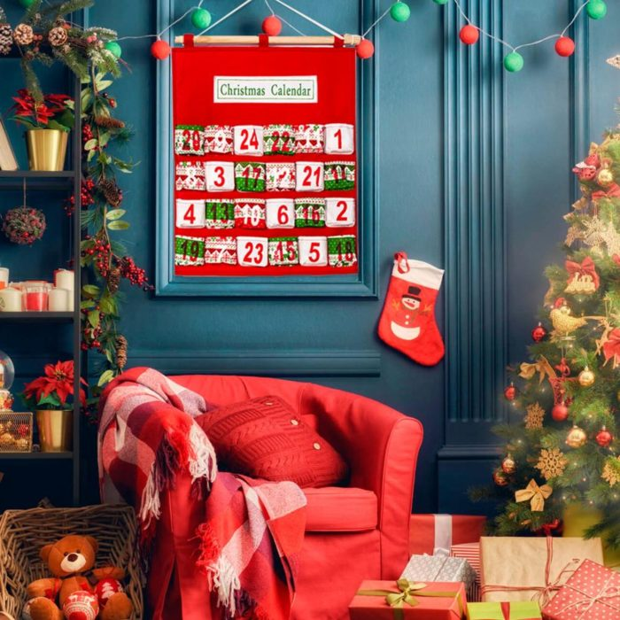 Christmas Advent Calendar House Decoration